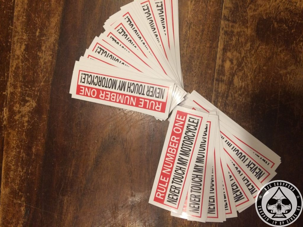 Rule Number One Sticker Rjc Choppers