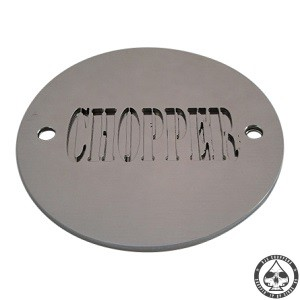 Point cover chopper, made of two stainless steel 1,5 mm plates. Will fit all horizontal 2 holes Harley Davidson nosecones.