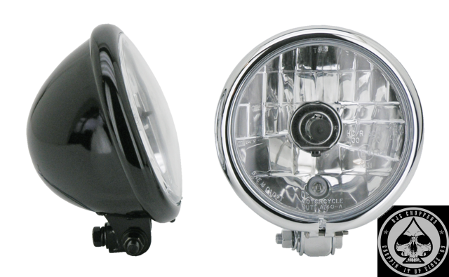 5 3/4 Bottom mount headlight (Halogen) ( Chrome )