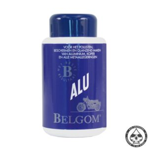 Belgom Alu is a ideal product to finish all the aluminium parts on your bike. Just apply the product in a waxing motion with a cloth, let is sit for a while and wipe it of with a clean cloth. Let your bike shine like a showbike and protect it in the same time. Comes in a 250cc bottle.