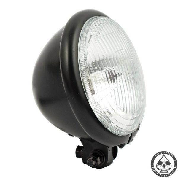 Bates style 5 3/4 Bottom mount headlight (H4) ( Black )