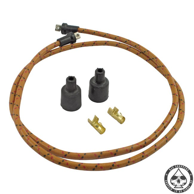 LowBrow cloth spark plug wire kit (Oak/black-red)