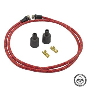 LowBrow cloth spark plug wire kit (Red/black-yellow)