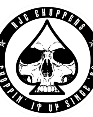 RJC Choppers Logo sticker ( 4 pack )