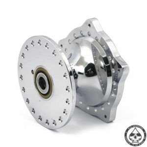 Chrome plated Alu 'Diabolo' Hub 74-77