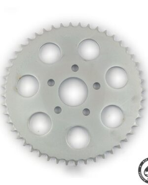 Rear sprocket for Harley Davidson 73-85 4-sp Bigtwin and 79-81 Xl Sportsters. Various numbers of tooth and in Chrome, Zinc or black finishing.