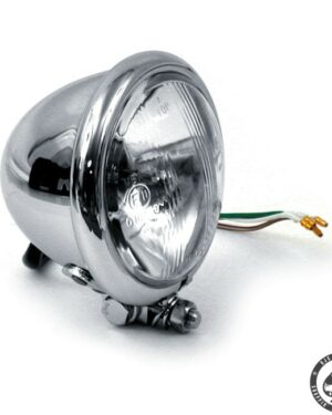 Bates style 4 1/2 Bottom mount headlight (Chrome)