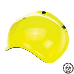 Biltwell Bubble visor (Yellow Solid) Anti-fog