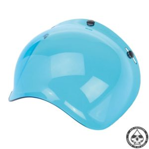 Biltwell Bubble visor (Blue Solid)
