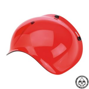 Biltwell Bubble visor (Red Solid)