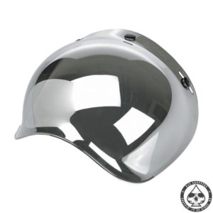 Biltwell Bubble visor (Chrome Mirror) Anti-fog