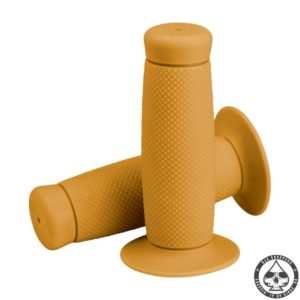 "Biltwell grips are available in 1"" & 7/8"". These grips are made from the same material used in dirt bike and BMX grips"