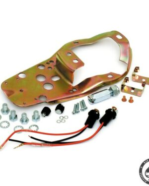 Base plate kit for 2-lights dash.. Base plates are used to mount dash covers, speedometers and ignition switch to the gas tanks.