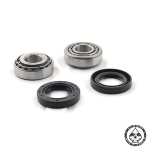 """Replacement tapered roller bearing. Fits 73-99 FX, FXR, FXD ( front ); 73-99 Xl ( front ) with .30""""wide seal. Set is complete with 2 bearings and 2 races and 2 seals"""