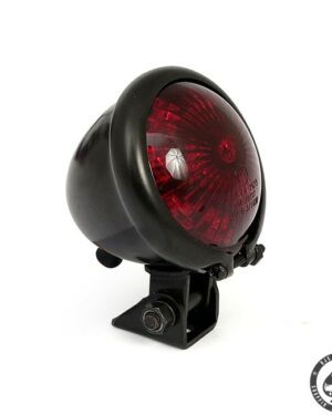 Bates style taillight with a LED lighted EC approved lens. With metal housing and adjustable bracket.