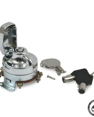IGNITION SWITCH, ELECTRONIC, ROUND KEY 6-POLE; WITH ROUND KEY Fits: > 73-95 FL, FX, FXWG(NU) WITH DUAL FUEL TANKS