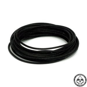 Cloth covered wiring, 25FT, pure Black.