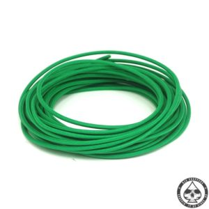 Cloth covered wiring, 25FT, pure Green.
