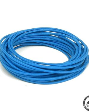 Cloth covered wiring, 25FT, pure Blue.