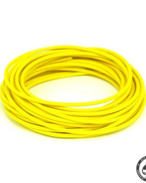 Cloth covered wiring, 25FT, pure Yellow.