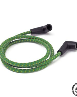 Universal cloth braided spark plug wire set (Green/Yellow)