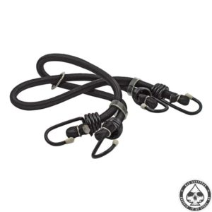 Bungee cords, Black 2 cords, 4 hooks