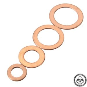 Copper seal brake line