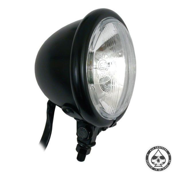 "Bates style 4"" Bottom mount headlight( Black )"