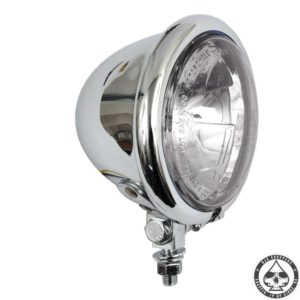 "Bates style 4,5"" Bottom mount headlight( Chrome )"
