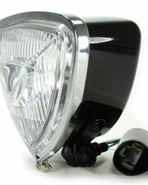 W&W triangle headlight, black with high beam