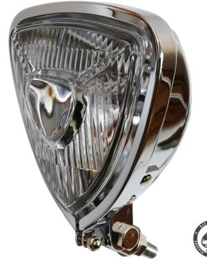 W&W triangle headlight, chrome