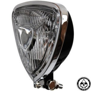 W&W triangle headlight, black