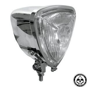W&W triangle headlight, chrome with high beam