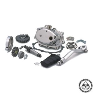 Kickstart kit, 4-speed, Chrome cover
