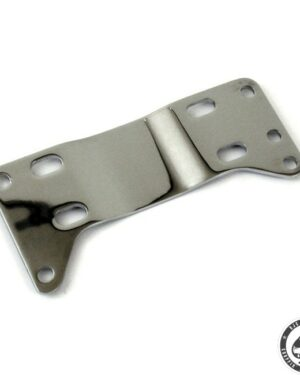 Transmission mount plate, 5-sp, Chrome