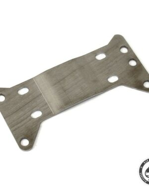 "Transmission mount plate, 5-sp, 1"" Offset, Stainless"