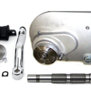 V-Twin Kickstart kit, 91-03 XL, raw aluminium