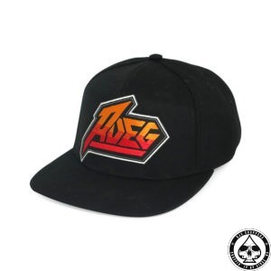 Roeg Tees Cap Cool Seventies flat panel rapper cap with a vintage Roeg logo One size fits most