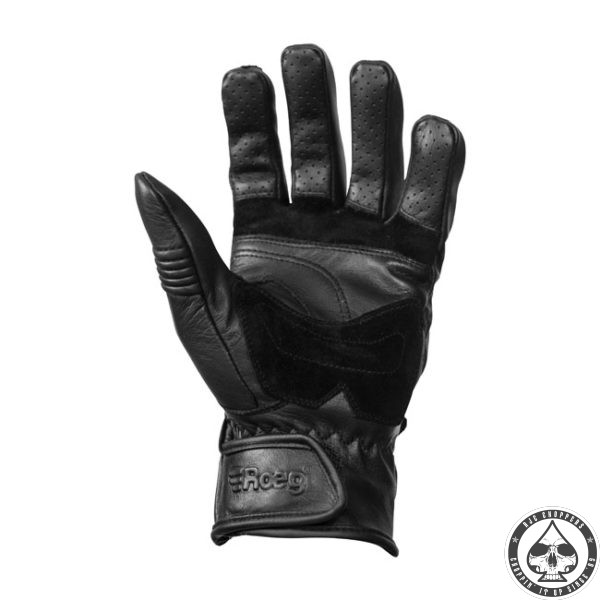 ROEG Baxter leather gloves black