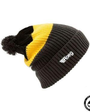 ROEG Averell Pom Knit beanie black/yellow/anthracite