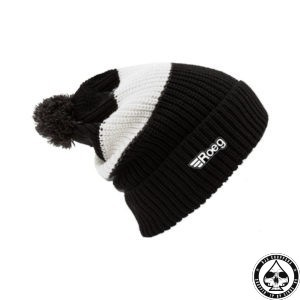ROEG Averell Pom Knit beanie black/white/black