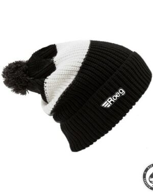 ROEG Averell Pom Knit beanie black/white/black