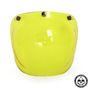 Roeg Bubble visor for Jett helmet, Yellow