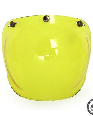 Roeg Bubble visor for Jett helmet, Yellow
