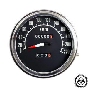 Speedometer, 72-84 FL, White/Black