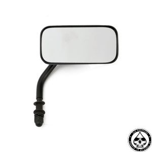 Rectangular mirror, Short Stem, 114x57, Black