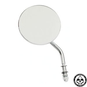 "3"" round mirror, Short stem, Chrome"
