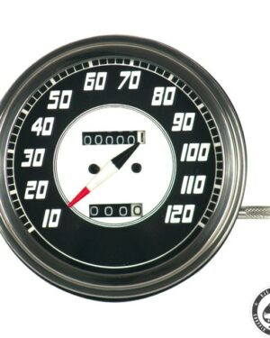 Speedometer, 46-47 FL, Silver/Black face