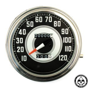 Speedometer, 41-45 FL, Silver/Black face