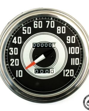 Speedometer, 41-45 FL, Silver/Black face
